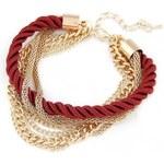 Krásná Bižu Náramek Rope Chain červený Z130