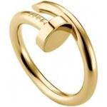 Krásná Bižu Prsten Nail zlatý Z211