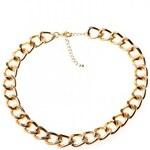 Krásná Bižu Náhrdelník Classic Chain zlatý Z385