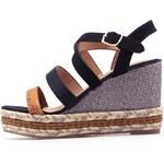 Béžovo-černé sandálky na platformě La Push