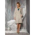 Dámský luxusní vlněný kabát béžový Rylko Fashion
