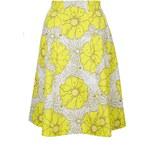 Topshop Sunrise Floral Print Midi Skirt