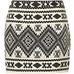Topshop PETITE Lurex Blanket Mini Skirt