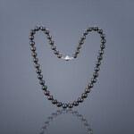 Buka Jewelry Buka Perlový náhrdelník Mutiara 7,5 AA černý 712