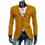 Pánské sako Lauro žluté - žlutá