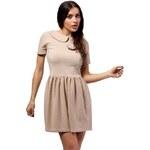 Béžové šaty MOE 172 S