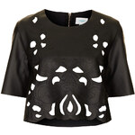 Topshop **Butterfly Lazer Cut Out Cropped Top by Jovonna
