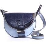 FRESHMAN MINI E kožená kabelka modrá 0803