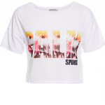 Terranova Boat-neck t-shirt with print