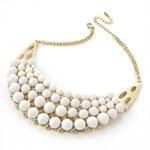 Bílý náhrdelník Half moon 28243
