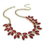 Červený náhrdelník Beads 28859