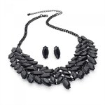SET: Černý náhrdelník a náušnice Bridget 29015
