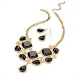 SET: Černý náhrdelník a náušnice Lily 28957