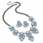 SET: Modrý náhrdelník a náušnice Alina 29243