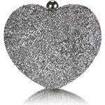 Dámské psaníčko Heart 263 stříbrné