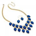 SET: Modrý náhrdelník a náušnice Zina 29268