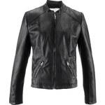 bpc bonprix collection Veste synthétique imitation cuir noir manches longues femme - bonprix