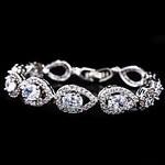 LightInTheBox Gorgeous Alloy Plating Platinum With Crystal/Cubic Zirconia Women's Bracelet(More Colors)