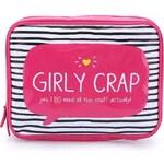 Růžová větší kosmetická taštička Happy Jackson Girly Crap