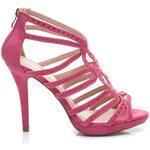 BLESS Růžové dámské sandály na podpatku - 7543CO / S1-30P