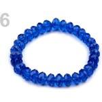 Stoklasa Pružný náramek z broušených korálků (1 ks) - 6 modrá kobaltová