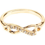 LightInTheBox Punk Style Golden Silver Tone Infinity CZ Ring