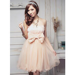 LightInTheBox Holiday Lady Women's Sweet Pink Bow Strapless Dress