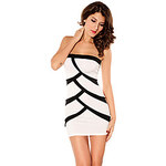 LightInTheBox Women's Bandeau Contract Color Mini Dress