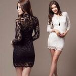 LightInTheBox Women's Sheer Bodycon Lace Dress