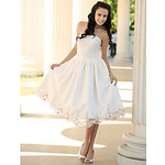 LightInTheBox A-Line Strapless Tea-length Lace Wedding Dress