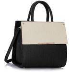 LS fashion LS dámská kabelka 230B černo-bílá