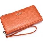NUCELLE dámská peněženka Croccodile oranžová