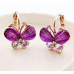 LightInTheBox MISS U Women's Crystal Butterfly Earrings