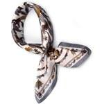 Hedvábný šátek s potiskem Mandala Barva: šedá