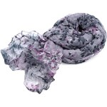 Mačkaný šátek květovaný Barva: šedá