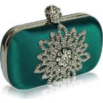 FASHION ONLY Společenská kabelka se štrasovou ozdobou Barva: Zelená