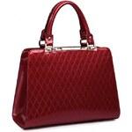 NUCELLE dámská kožená kabelka Shiny Barva: ČERVENÁ