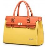 Just Star kožená kabelka žluto-oranžová