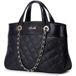NUCELLE dámská kožená kabelka Women Lattice Barva: ČERNÁ