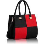 FASHION ONLY dámská kabelka LS00153 Barva: Černo-červená