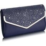 FASHION ONLY společenská kabelka-psaníčko LSE00264 Barva: Modrá