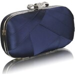 FASHION ONLY společenská kabelka-psaníčko LSE00258 Barva: Modrá