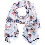 Bílý květovaný šátek Vero Moda Maria
