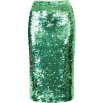 Topshop Mint Sequin Pencil Skirt