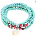 LightInTheBox Lureme Multi-layers Elephant Charm Turquoise Bracelet Set(Assorted Color)