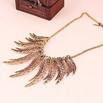 LightInTheBox Bohemian style retro hollow wing shape necklace N1060