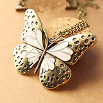 LightInTheBox Heavy Enamel Butterfly hollow retro palace sweater chain necklace N511