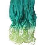 LightInTheBox 16 Inch Clip in Synthetic Green Gradient Wavy Hair Extensions with 5 Clips