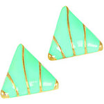 LightInTheBox European and American Fashion Enamel triangle metal texture contrast color earrings earrings E933