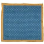A Piece of Chic Tmavě modrý hedvábný šátek se zlatými liliemi